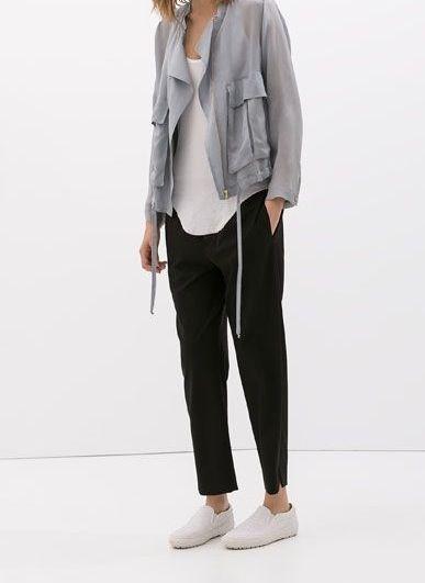 Via Zara | Black Grey White | Slip ons | Minimal Chic Fashion