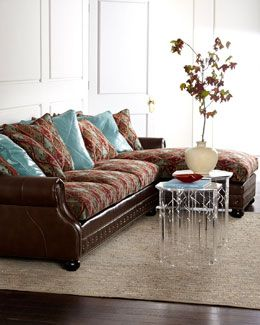 H72ZV Old Hickory Tannery Turrisi Sectional