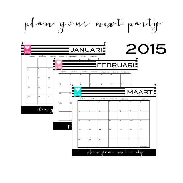 Gratis 2015 kalender, download hem nu!