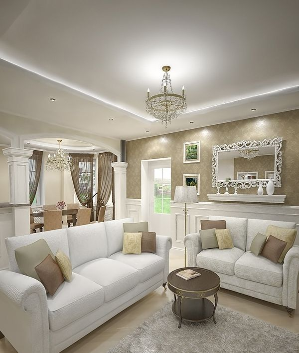 38 Elegant Living Rooms That Are Brilliantly Designed: 10 Elegant Beige Living Room Designs