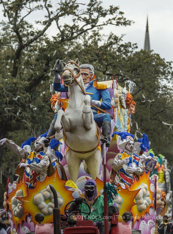Rex parades for Mardi Gras 2015