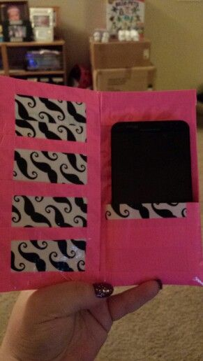 Duck tape mustache cell phone case