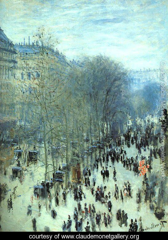 Boulevard Des Capucines    Claude Oscar Monet