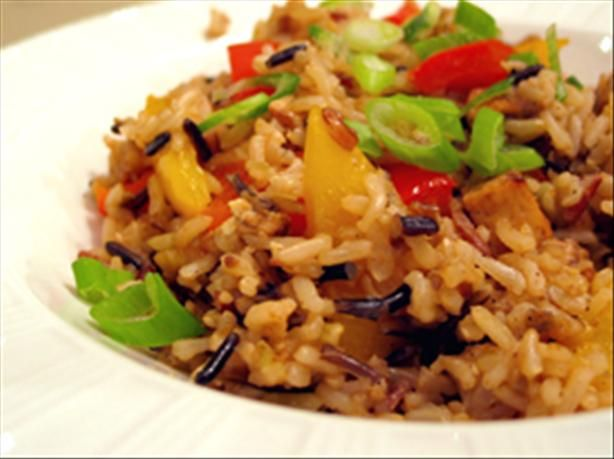 Brown Rice Stir-Fry With Flavored Tofu and Vegetables. Photo by kelly ...