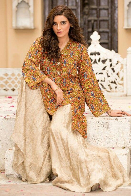 Beautiful print pakistani palazzo dress.