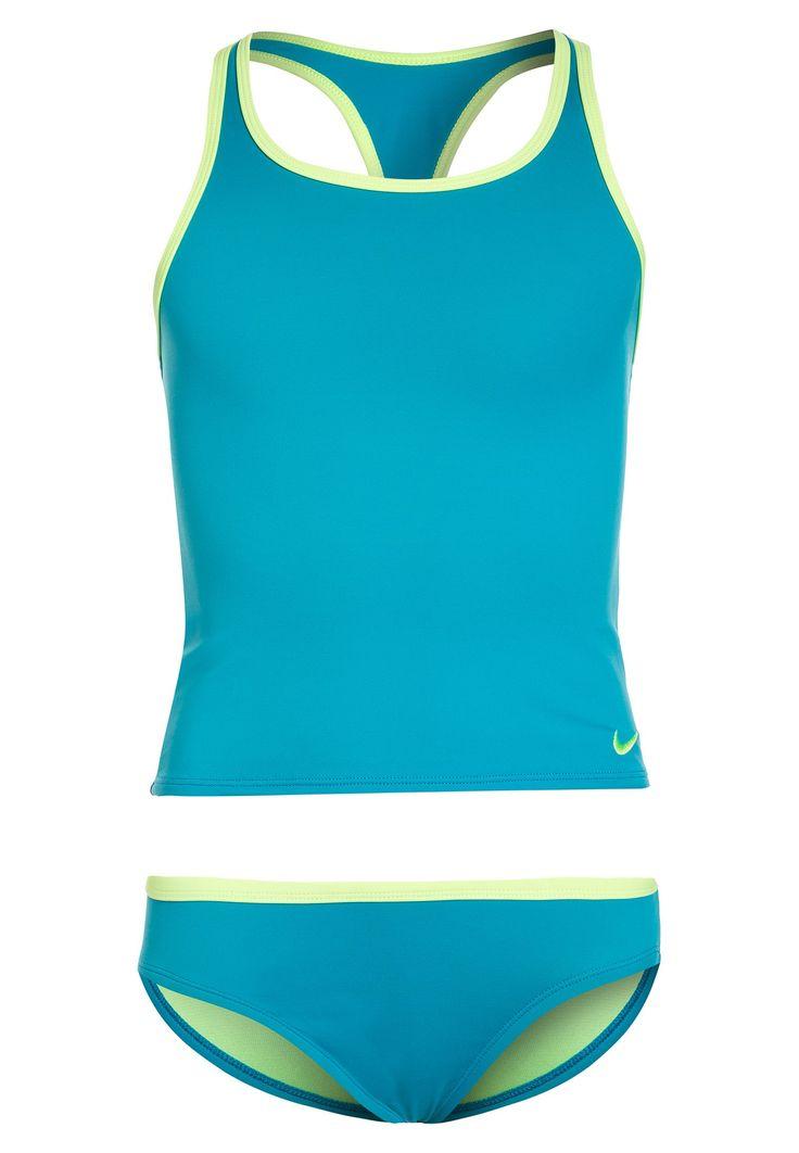 Nike Performance GIRLS SWIM RACERBACK SPORT TANKINI - Uimapuku - light blue fury - Zalando.fi