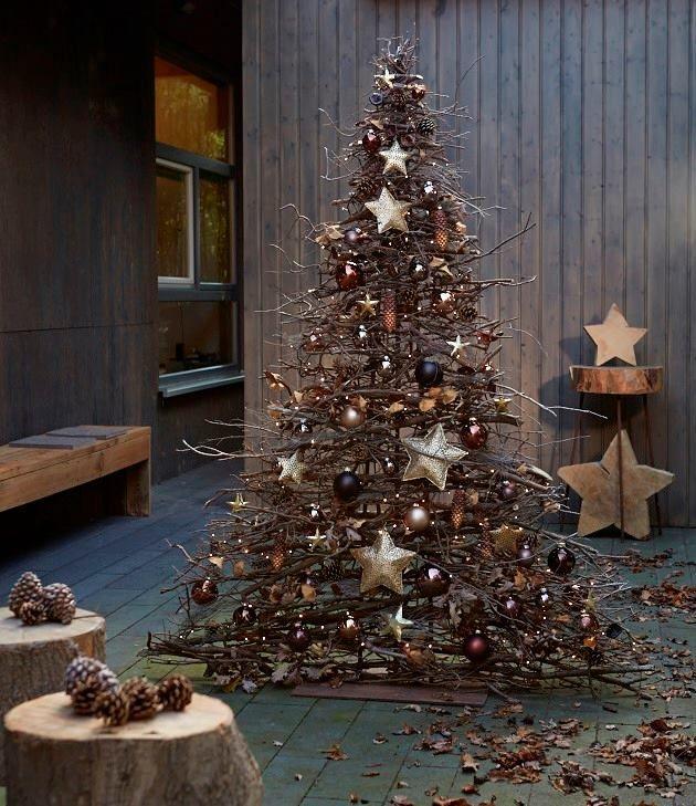 Diy Tannenbaum Aus Asten Und Zweigen Weihnachten Dekoration Diy