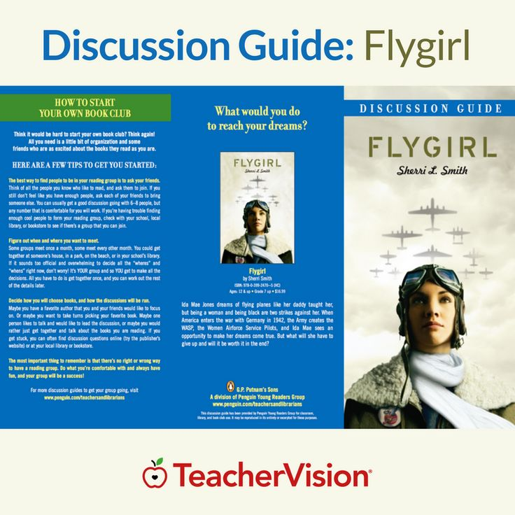 Promote thoughtful discussion about race, heritage, and women's history with this printable discussion guide to Flygirl. It includes questions, research, and activities about World War II and the Women Airforce Service Pilots program.  Grades:	7 | 8 | 9 | 10 | 11 | 12  Subjects:	Reading and Literature | Social Studies and History | Science  Themes:	Women in STEM  Type: Literature Guide | Worksheet  Holidays:	Black History Month | Women's History Month