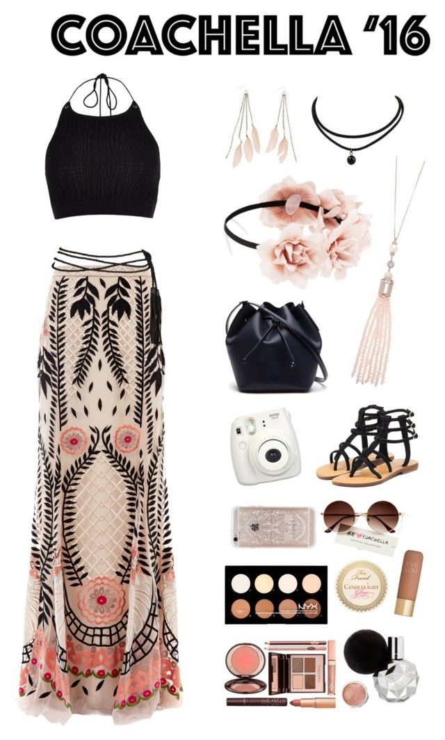 """cochella outfit for ali"" by annieanne-tumblr13 ❤ liked on Polyvore featuring River Island, Temperley London, Forever 21, Oasis, Charlotte Russe, Lacoste, Mystique, Fujifilm, NYX and Eve Lom"