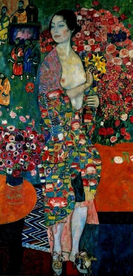 I still remain quite aloof concerning Gustav Klimt, but in The Dancer I find loveliness; immense beauty. ~M