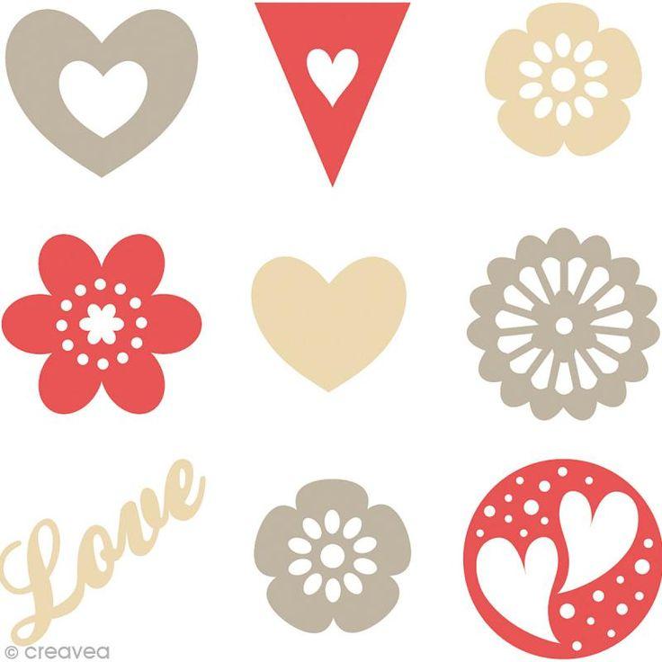 Compra nuestros productos a precios mini Set de mini siluetas de fieltro - Love - 45 unidades - Entrega rápida, gratuita a partir de 89 € !