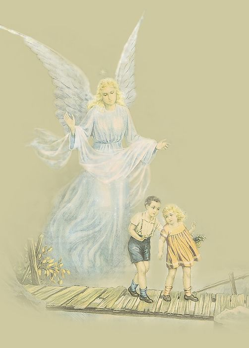 An Old time favourite Guardian Angel watching over the kids