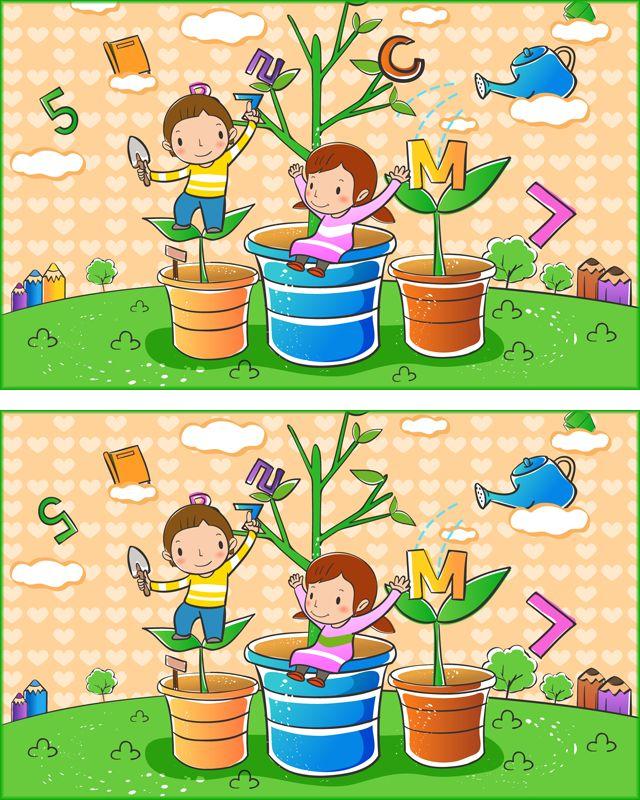Jeu Des Différences à Imprimer Les Enfants picture