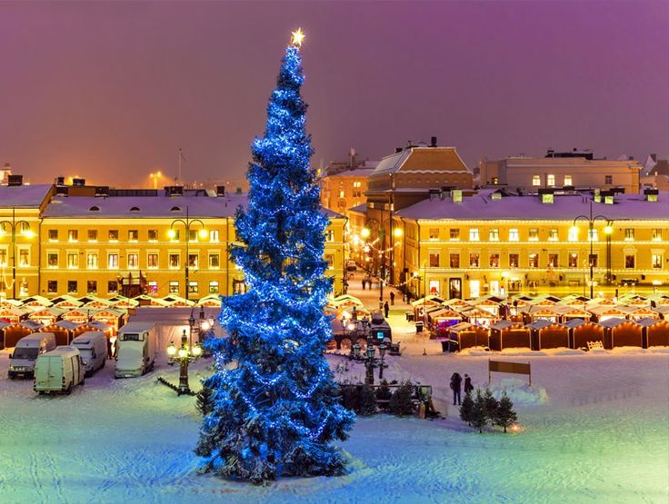 Traditional christmas market in Senate Square, Helsinki - Finland   10 Magical Christmas Markets in Europe