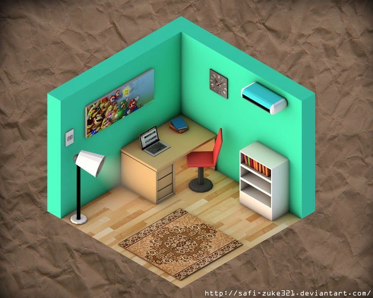 Simple Isometric Room by SaFi-ZuKe321