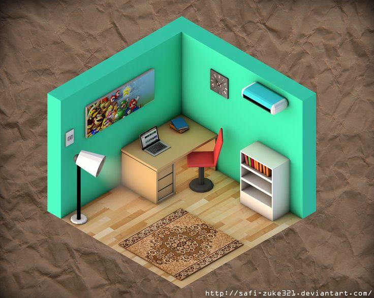 Simple Isometric Room by SaFi-ZuKe321