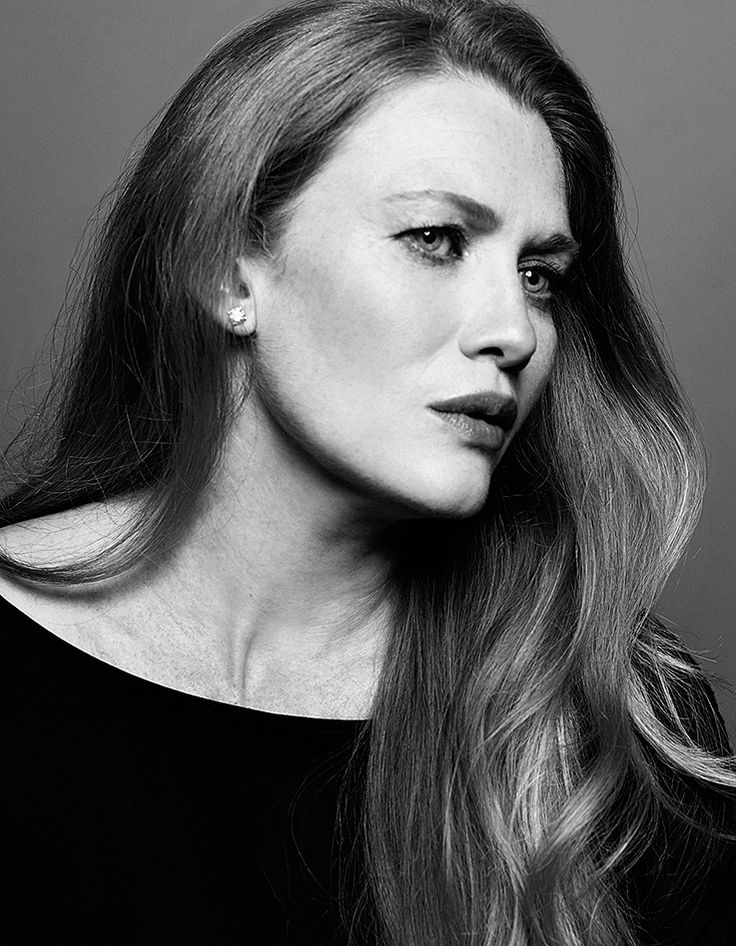 Mireille Enos by Peter Hapak • 2014 - it's a black and white pic, but she's a REDHEAD!