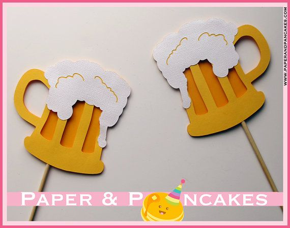3-D Photobooth Beer Mug Props / Butter Beer Photo Booth Props, Harry Potter Party, Birthday Party - Set of 2, Perfect for Cheers Photo via Etsy