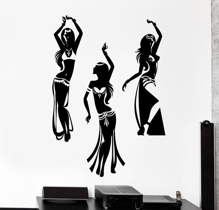 Wall Vinyl Decal Dancing Belly Dance Oriental Girl Home Interior Decor z4151