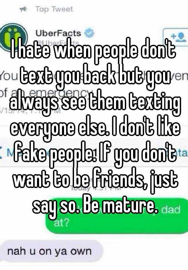 Text why back dont people What to