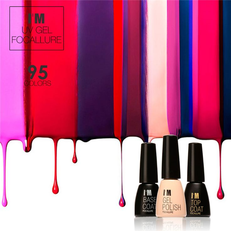 FOCALLURE UV Gel Nail Polish Gel Long-lasting Soak-off LED UV Gel Polish Hot Nail Gel 95 Colors Women Fashion Nail
