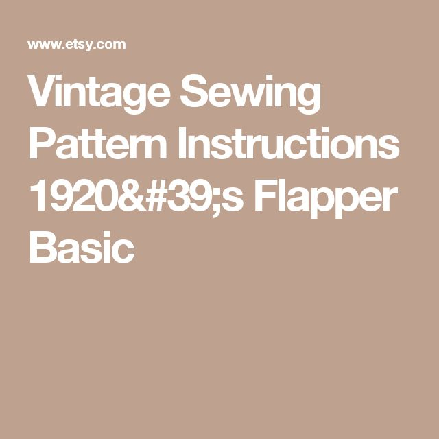 63 best patterns images on pinterest sewing patterns clothing vintage sewing pattern instructions 1920s flapper basic neglige robes ebook pdf depew 3004 instant download fandeluxe Choice Image
