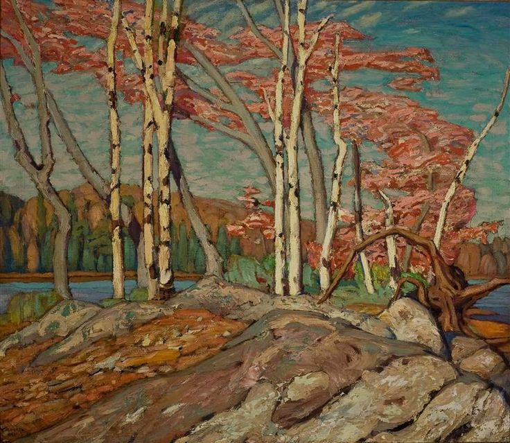 """Autumn (Kempenfelt Bay),"" Lawren Stewart Harris, 1920?, oil on canvas, 37 3/4 x 43 1/2"", University of Toronto Art Collection."