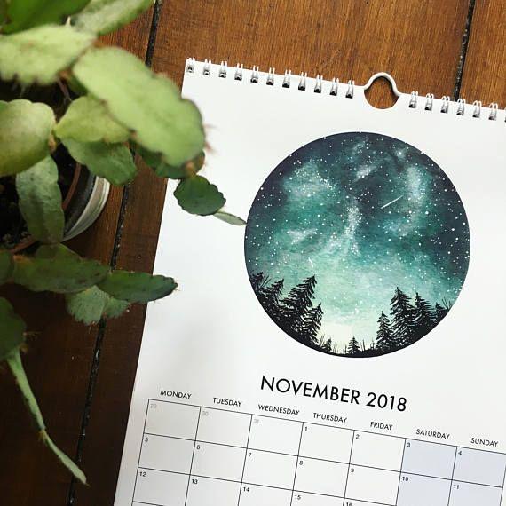 2018 Watercolour Calendar