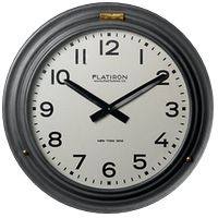 Love me a good ol' industrial clock!  This from Restoration Hardware $399.