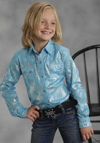 BlueLights Sparkle : Girl's Western Show Shirt | Free Shippin on Girls Western Wear