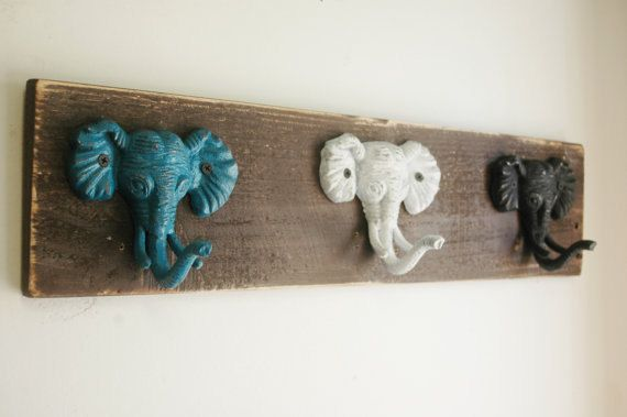 Elephant trio wall decor for hanging light by PineknobsAndCrickets, $42.00