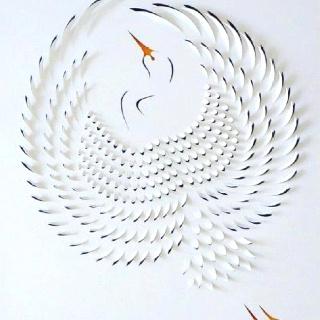 Paper ArtLisa Rodden, Lisarodden, Paper Cranes, Acrylics Painting, Cut Paper Art, Paper Artworks, Paper Work, Paperart, Hands Cut