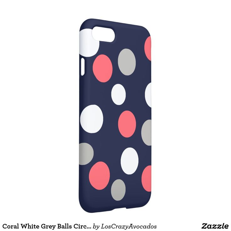 Coral White Grey Balls Circles IPhone 8/7 Case