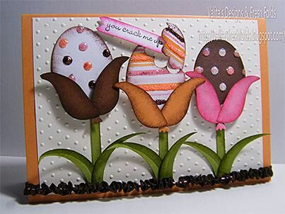 Easter egg flower card