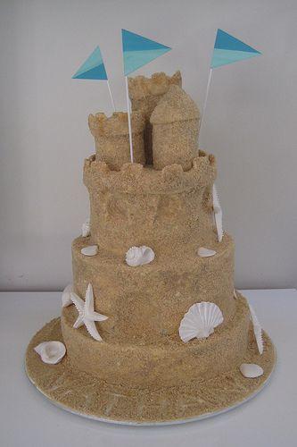 sand castle rice krispie treats - Google Search