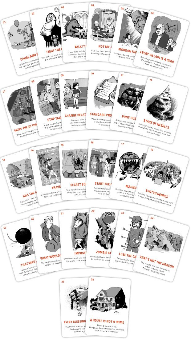 Writer Emergency Pack – The John August Store!9 plus postage For when you're stuck in your story... pick a card and WRITE!