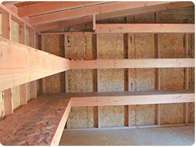 Wood Storage Shelves Garage Shelf
