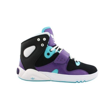 Womens adidas Roundhouse Athletic Shoe - Black/Purple/Turquoise