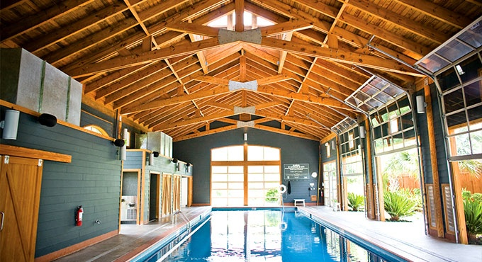23 best images about pool barn awesome on pinterest for Swim spa in garage