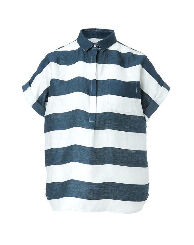 Shop now: Burberry Brit striped linen shirt: Linen Shirts
