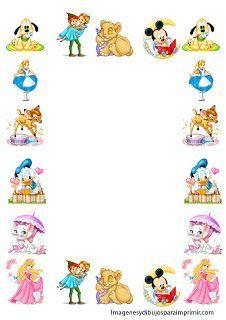 Marcos para folios infantiles para imprimir | Imagenes para imprimir.Dibujos para imprimir