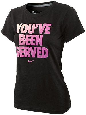 $30.00 Nike Women's You've Been Served Tee