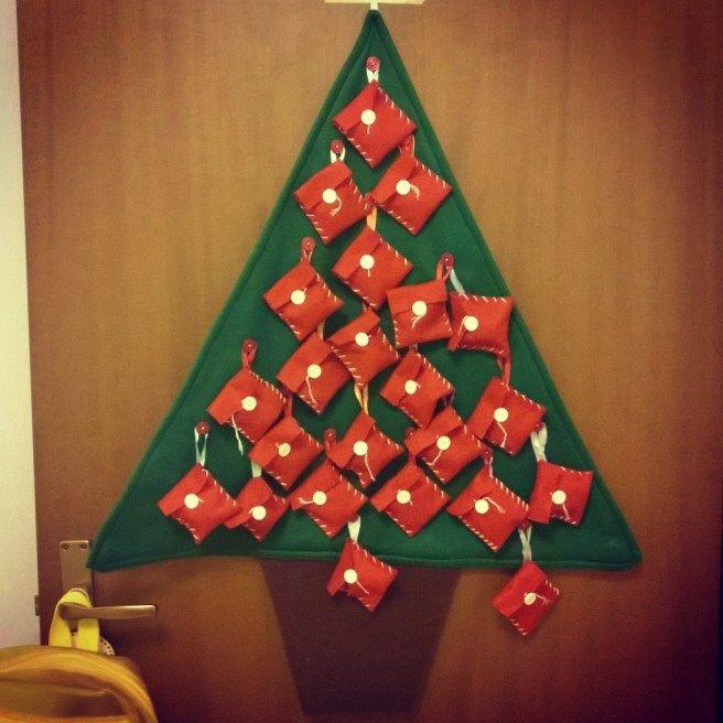 calendario dell'avvento, albero di natale advent calendar, christmas tree