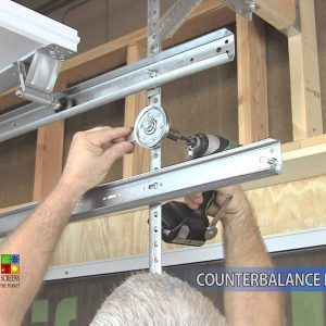 Pulley System For Garage Door Screen
