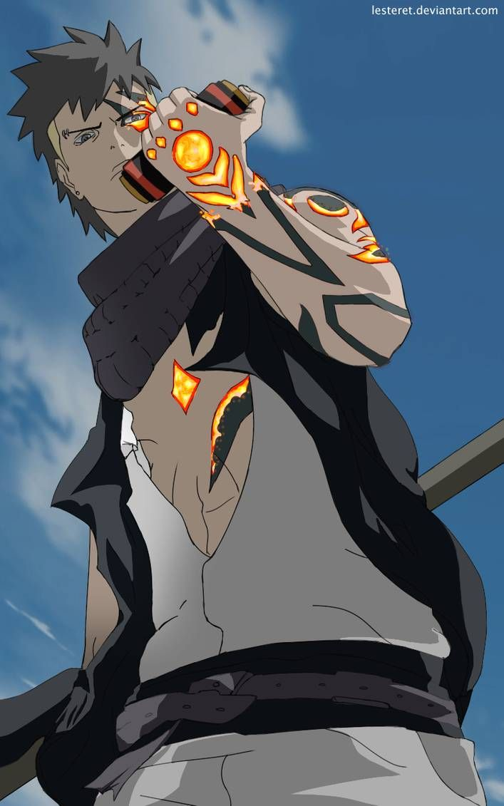 Kawaki And Strange Scroll By Lesteret Anime Naruto Naruto Shippuden Anime Naruto Vs Sasuke