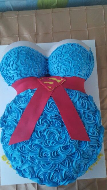 High Quality Superman Cake ! For A Baby Shower!