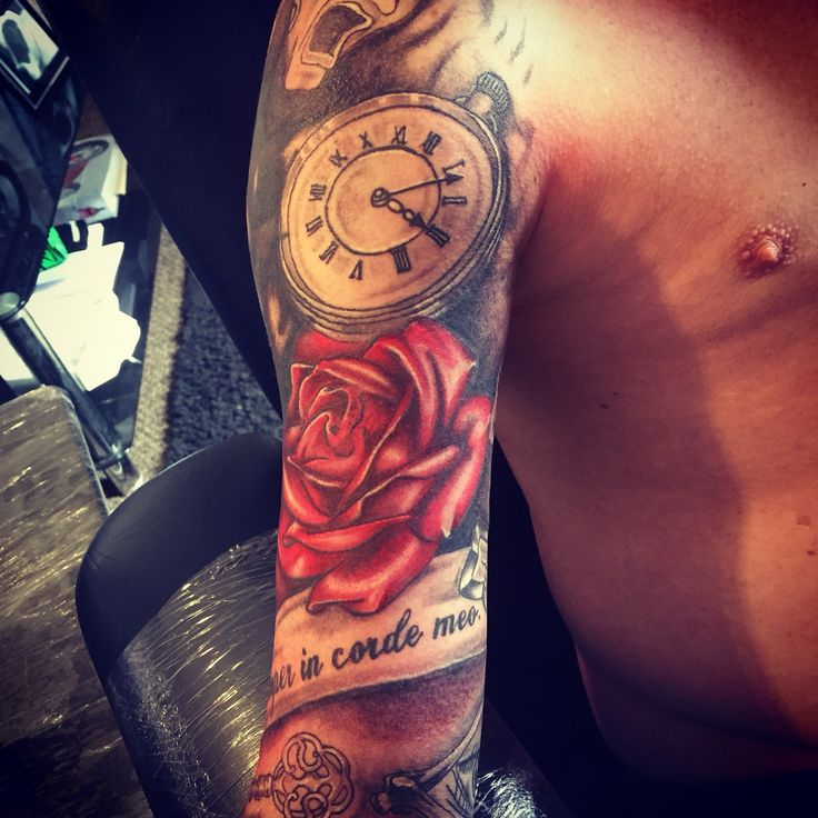 tribal cover up half sleeve roses clock tattoo tattoo pinterest clock tattoos tribal. Black Bedroom Furniture Sets. Home Design Ideas