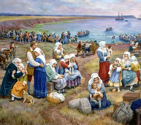 Ships Take Acadians Into Exile by Claude T. Picard.