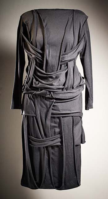 Dress Rei Kawakubo (Japan, Tokyo, born 1942) Comme des Garçons (Japan, founded 1969) Japan, 1983 Costumes; principal attire (entire body) Wool jersey knit Center back length: 45 in. (114.3 cm) Gift of Mary Levkoff in memory of Akira Kimura (AC1997.152.1)