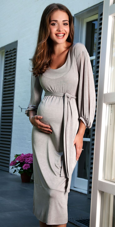 Mia Maternity Dress (Silver) by Tiffany Rose - maternity fashion style ...